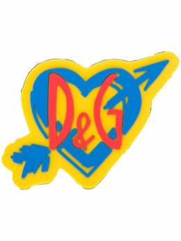 Dolce&Gabbana нашивка Sorrento в форме сердца с логотипом BI1288AJ038