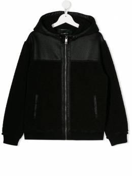 John Richmond Junior куртка с капюшоном и вставками RBA19205GBHB