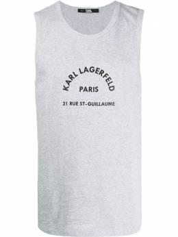 Karl Lagerfeld топ Rue St Guillaume с логотипом 96KM1731255