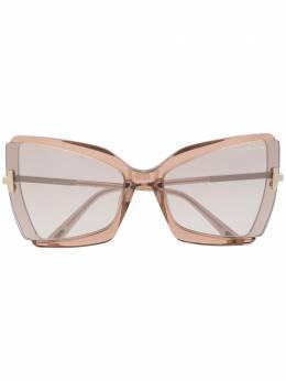 Tom Ford Eyewear солнцезащитные очки в массивной оправе FT0766