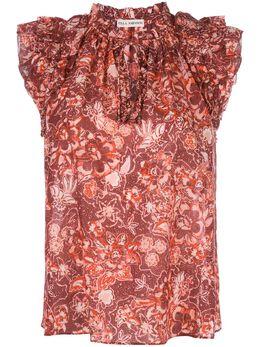 Ulla Johnson блузка без рукавов с цветочным принтом HO190208
