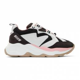 MSGM Black and Grey Attack Sneakers 2742MDS2086 703