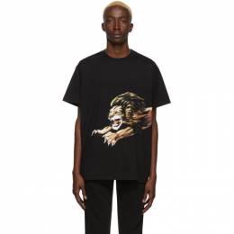 Givenchy Black Leo T-Shirt BM70ED3002