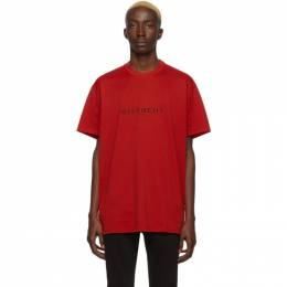 Givenchy Red Paris T-Shirt BM70KC3002
