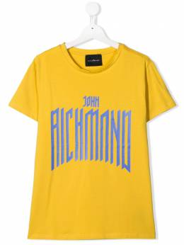 John Richmond Junior logo print T-shirt RBA19074TSFX