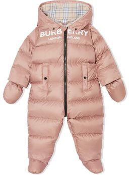 Burberry Kids дутый комбинезон с логотипом 8021086