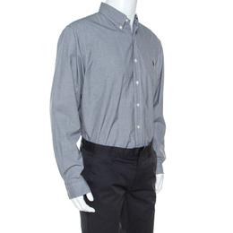 Ralph Lauren Monochrome Micro Check Cotton Button Front Shirt XXL 241524