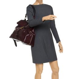 Chloe Burgundy Leather Top Handle Bag 242126