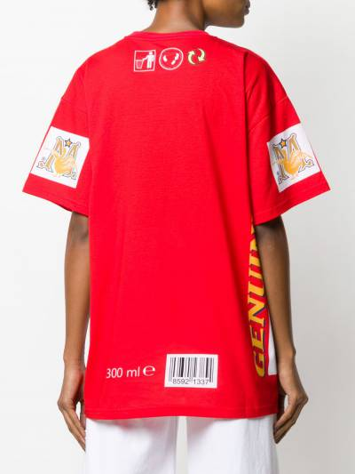 Moschino футболка оверсайз с принтом A07794139 - 4