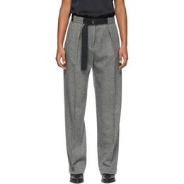 Rag&Bone Black and White Rochelle Trousers WAW19H7006NM06-BLK/MU