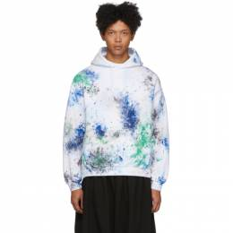 Sasquatchfabrix White and Multicolor Painted Vintage Hoodie 19AW-CSP-001