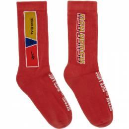 Reebok By Pyer Moss Red Collection 3 Logo Crew Socks FS9131