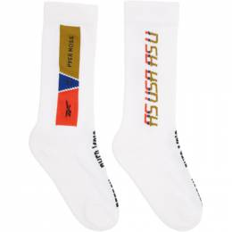 Reebok By Pyer Moss White Logo Socks FS9129