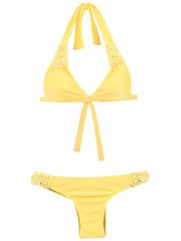 Amir Slama textured triangle top bikini set 7452