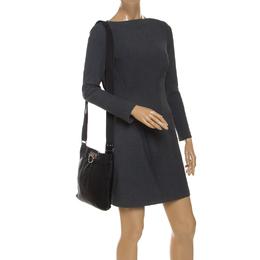 Salvatore Ferragamo Black Leather Crossbody Bag 241968