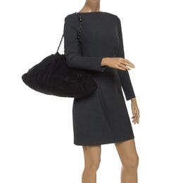Chanel Black Quilted Jersey Melrose Cabas Bag 240656