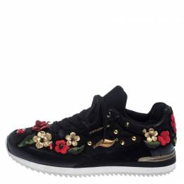 Dolce&Gabbana Mulitcolor Embellished Leather Lace Sneakers Size 40 238180