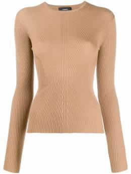 Theory трикотажный свитер в рубчик с круглым вырезом J0711704