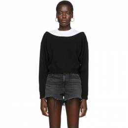 T By Alexander Wang Black Cropped Bi-Layer Sweater 4KC1201012