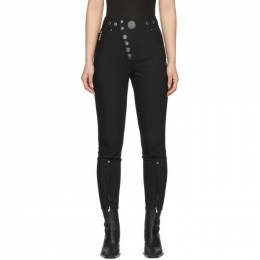 Alexander Wang Black High-Waisted Snap Front Trousers 1WC1204212