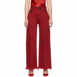 Marques Almeida Red Boyfriend Jeans RST20TR0014DND