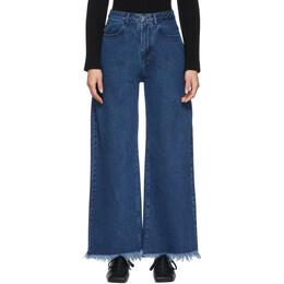 Marques Almeida Blue Boyfriend Jeans RST20TR0014DNM