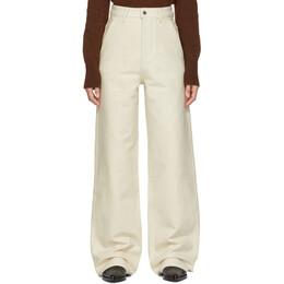 Ami Alexandre Mattiussi Off-White Large Leg Fit Trousers H19FT650.230