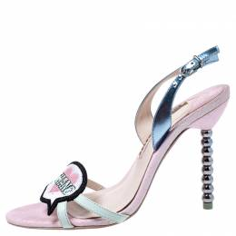 Sophia Webster Multicolor Leather Miss Thang Slingback Sandals Size 38.5