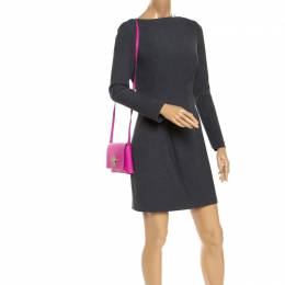 Kate Spade Hot Pink Leather Astor Court Flap Crossbody Bag 243661