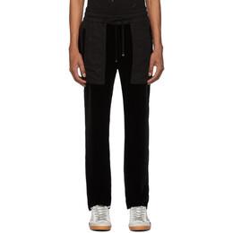 Amiri Black Velvet Commando Patch Lounge Pants S0M09104VE