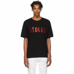 Stolen Girlfriends Club Black Stolen Metal T-Shirt 19T001BR