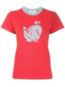 Lanvin футболка с графичным принтом RWTO688ITJ02H19