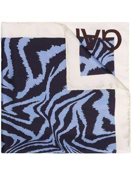 Ganni шарф с зебровым принтом A2253