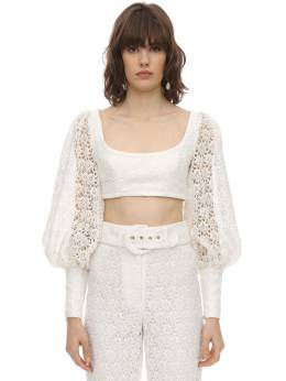 Cropped Lace Top Zimmermann 71IRSQ023-SVZPUlk1
