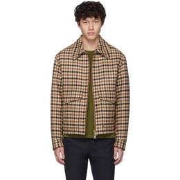 Ami Alexandre Mattiussi Brown Plaid Blouson Jacket H19OW005.256