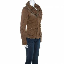 Marc By Marc Jacobs Brown Cotton Zip Front Jacket XS 245309