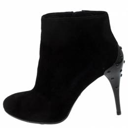 Tod's Black Suede Ankle Boots Size 36 Tod's