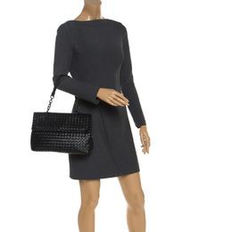 Bottega Veneta Black Leather Olimpia Chain Strap Shoulder Bag 244157