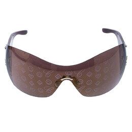 Chopard Gold/Brown Monogram Shield Sunglasses 245214