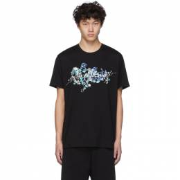 Givenchy Black Logo Flowers T-Shirt BM70VD3002