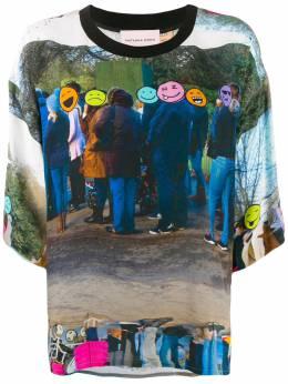 Natasha Zinko футболка свободного кроя с принтом Emoji FW1920565