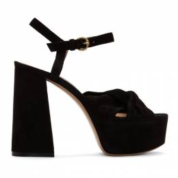 Gianvito Rossi Black Suede Twisted 70 Heeled Sandals *G31605.70RIC.CAM