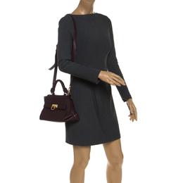 Salvatore Ferragamo Burgundy Sofia Leather Top Handle Bag 244056