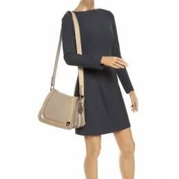 Cartier Beige Leather and Python Messenger Bag 243280
