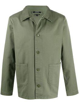 A.P.C. куртка-рубашка с заостренным воротником CODDDH03053