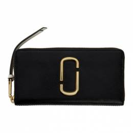 Marc Jacobs Black and Grey Snapshot Standard Continental Wallet M0014280