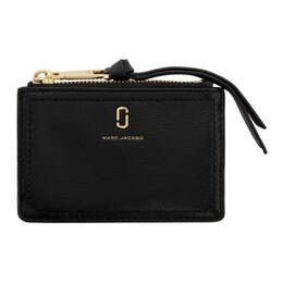 Marc Jacobs Black The Softshot Top Zip Wallet M0015123