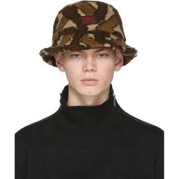 Burberry Brown Fleece Monogram Bucket Hat 8023810