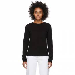 Re/Done Black Heritage Long Sleeve T-Shirt 024-2WLST1