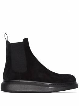 Alexander McQueen ботинки челси на утолщенной подошве 586198WHXK2